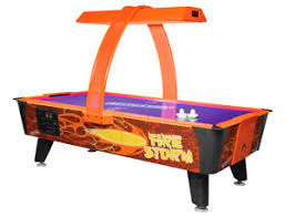 hockey time air hockey table fire storm air hockey table arcade game rental video amusement san