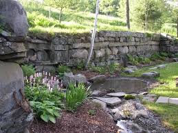 our perennial garden in the old barn foundation picture of