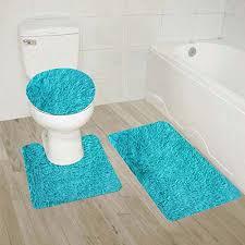 Bathroom Contour Rug Golden Linens 3 Shaggy Bathroom Rug Set Bath Rug