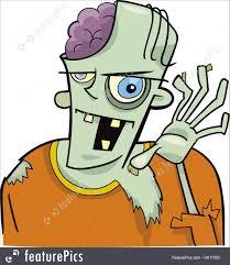 halloween cartoon clip art illustration of cartoon zombie