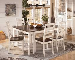 two tone dining table set signature design by ashley whitesburg 7 piece two tone cottage