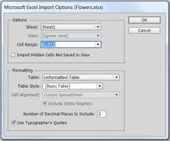 want to import from excel into indesign u2022 book design made simple