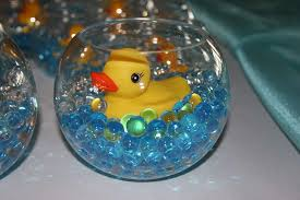 rubber duck baby shower decorations awesome baby shower fish bowl centerpieces 69 for your decoracion