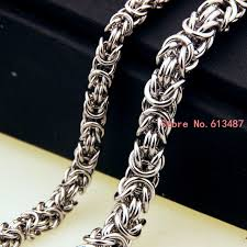 2015 men s jewelry 8mm 60cm new arrival fashion men s jewelry trendy stainless steel byzantine chain