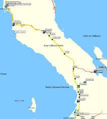 Baja Map Motorcycle Trip To Baja California