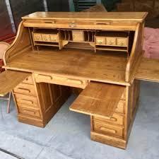 Lockable Desk Large Lockable Oak Roll Top Desk For Sale In Bakersfield Ca