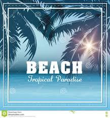 saison d u0027été icône de paume et de plage dessin de vecteur