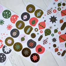 Classical Christmas Decoration Stickers 194 Xmas Craft Bauble