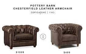 Pottery Barn Armchair Pottery Barn Chesterfield Leather Armchair Copycatchic