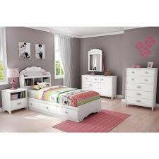 Kids Bedroom Furniture Storage South Shore Tiara Twin Wood Kids Storage Bed 3650212 The Home Depot