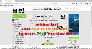 imacros tutorial loop addmefast auto subscribe youtube imacros 2018 working 100 auto