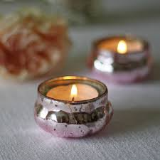mini mercury pink tea light holder by the wedding of my dreams