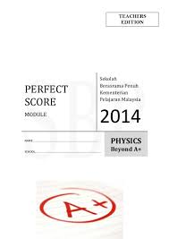 modul perfect score sbp physics spm 2014 skema