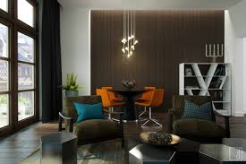 Interior Design Dark Brown Leather Couch Living Room Interior Design With L Shape Black Leather Sofa And