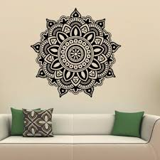 compare prices on family wall mural online shopping buy low price order 1 piece mandala flower wall stickers indian bedroom wall art stickers mural home vinyl family wall stickers home