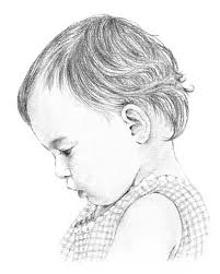 drawn baby pencil art pencil and in color drawn baby pencil art