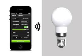 smartphone lightbulb sharper image