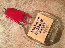 flattened wine bottle platter free shipping maker s bourbon whisky whiskey slump melted
