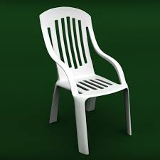 Garden Chairs Plastic Garden Chair 3d Cgtrader