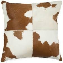 animal print decorative pillows wayfair carley cowhide throw