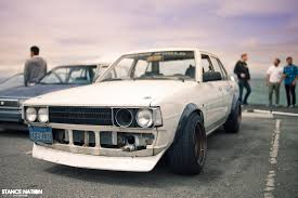 stanced toyota corolla ke70 c stance nation nafterli u0027s car world