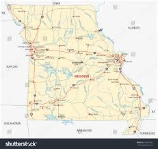 Map Missouri Missouri Road Map Stock Vector 270435758 Shutterstock