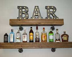Barnwood Bookshelves by Iron Pipe Shelf Etsy