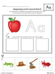 finding and connecting letters letter a worksheet color