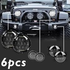jeep lights 7 u0027 u0027 led headlights amber signal turn light 4