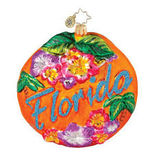 christopher radko ornaments 2017 radko florida ornament