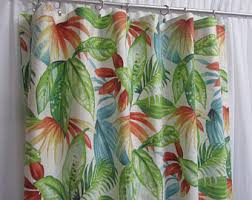 Large Print Curtains Botanical Print Etsy