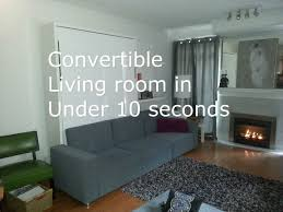 bedroom transforms into lounge in 10 seconds with this sofa wall