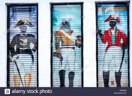 miami florida beach tap tap haitian restaurant blinds painted