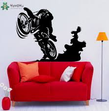compare prices on cool bedroom online shopping buy low price cool motocross racing wall decal boy rooms wall sticker cool bedroom interior home decor modern design bike