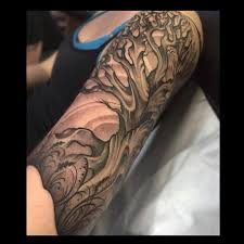 tattoos by jade tattoos custom black and grey tree