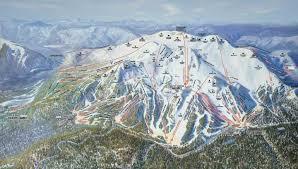 Colorado Ski Areas Map by Mammoth Mountain Ski Resort Trail Map Mammoth Lakes California