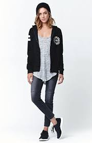 young u0026 reckless deep cutt zip up hoodie from pacsun