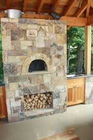 Pizza Oven Outdoor Fireplace by Rustic Stone Outdoor Fireplace With Pizza Oven And Reclaimed Barn