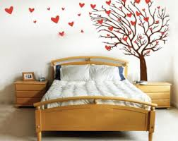Heart Wall Stickers For Bedrooms Heart Tree Decal Etsy