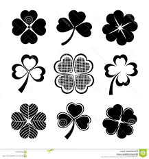 best free shamrock four leaf clover vector icons collection st