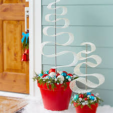 Outdoor Christmas Decorations At Lowes by Christmas Planter Ideas