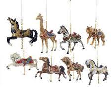 sugar plum carousel ornaments 2 assorted kurt s adler