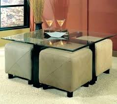 storage cube coffee table storage cube seating glass coffee table and 4 ottoman storage cube
