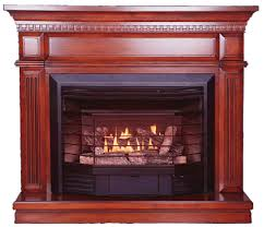 Btu Gas Fireplace - the carlton u0027 u00274 in 1 u0027 u0027 gas fireplace with heritage cherry mantel