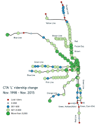 Chicago Transit Authority Map by Cta Reports Huge Ridership Gains On Blue Line Losses On South