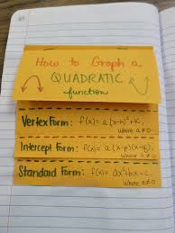 math u003d love different forms of a quadratic function foldable