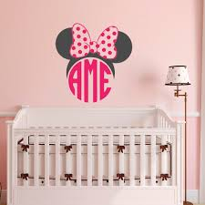 minnie mouse monogram wall decal girls monogram wall decal zoom