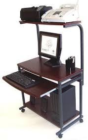 computer and printer table amazon com compact mobile computer desk w printer shlf 18 d 32