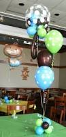 Baby Monkey Centerpieces by Baby Shower Balloon Decor