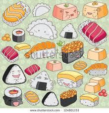 cuisine clipart kawaii japanese cuisine clip เวกเตอร สต อก 124801153